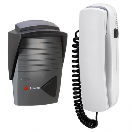 Porteiro Eletrônico para Residência Grafite e Preto AM-M200 AMELCO